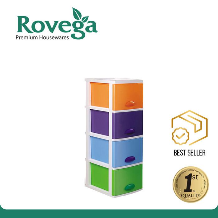 harga Rovega kido lemari plastik premium 4 susun rainbow Tokopedia.com
