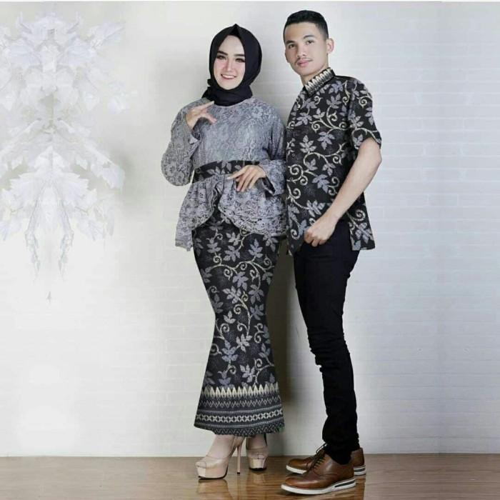 Jual Cp Annisa Baju Couple Kebaya Brukat Batik Rok Duyung Kemeja Jakarta Selatan Tara S Collections Tokopedia