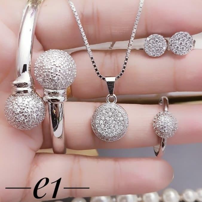 Jual Titanium set perhiasan lapis emas 24k 2412a - Kota ...