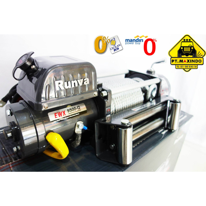 harga Runva electric winch ewx-9500-q / 9.5xq warna grey kapasitas 43 ton Tokopedia.com