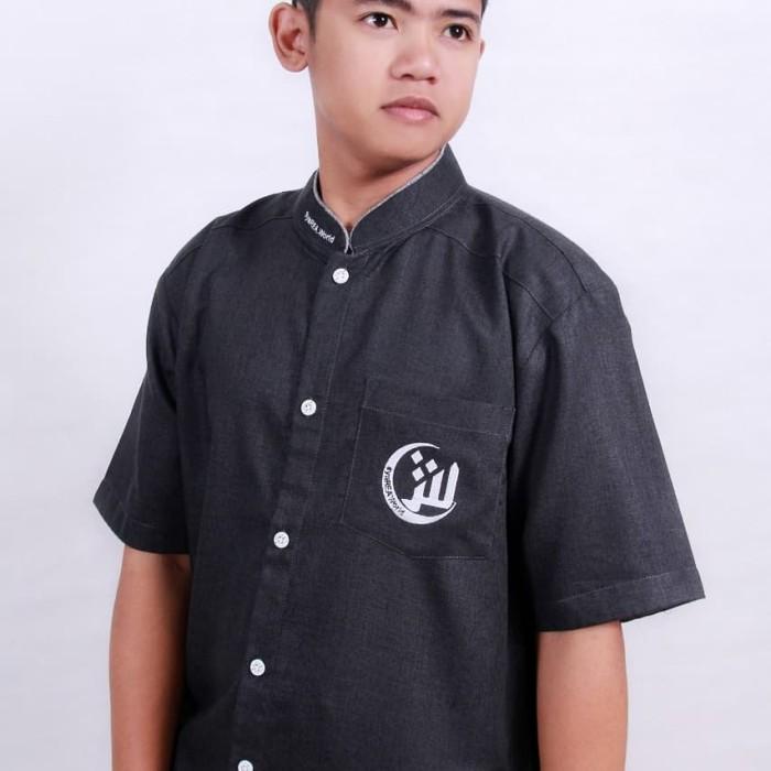 Foto Produk Masyarakat Tanpa Riba   Kemeja Pria   Baju Koko Pria   Hitam MTR - Hitam, XL dari Masyarakat Tanpa Riba