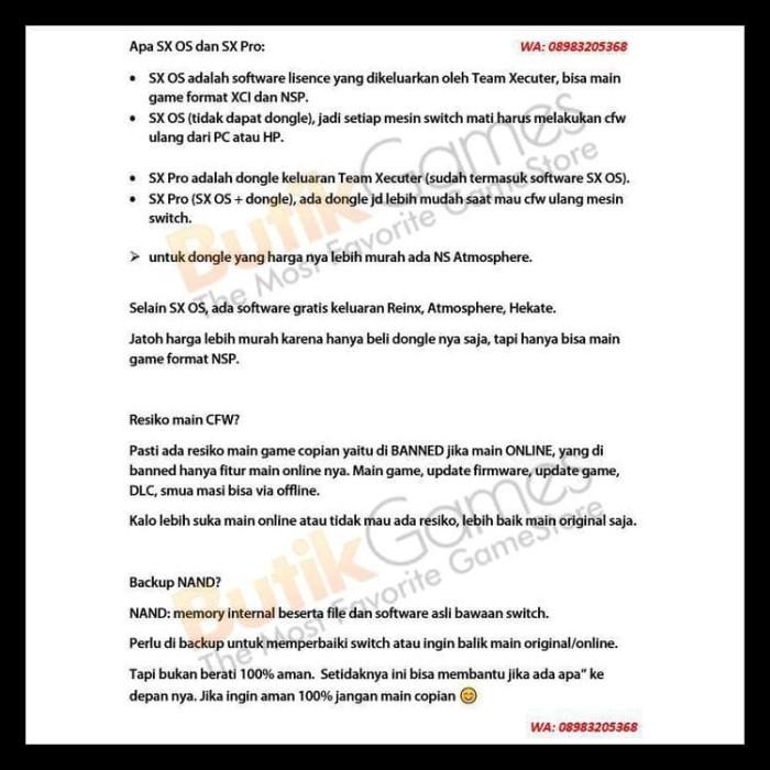 Jual Nintendo Switch Cfw 128Gb Sx Os / Sx Pro - Sx Os Dongle Hemat -  Jakarta Barat - tokotanandra | Tokopedia