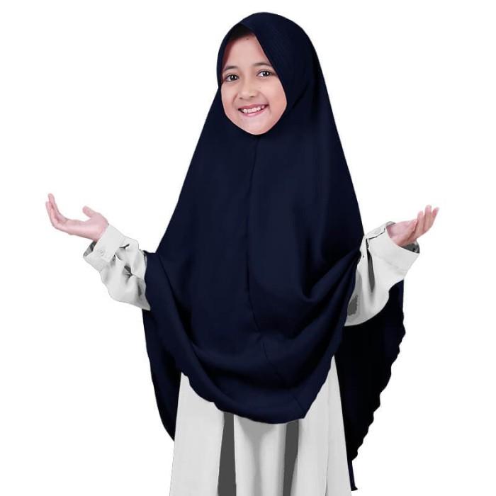Foto Produk BAJUYULI - Kerudung Jilbab Anak Syar'i murah cantik - navy GWSNV01 - All Size dari Bajuyuli