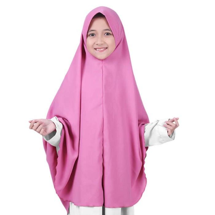 Foto Produk BAJUYULI - Kerudung Jilbab Anak Syar'i murah cantik - dusty pink GWSDP dari Bajuyuli