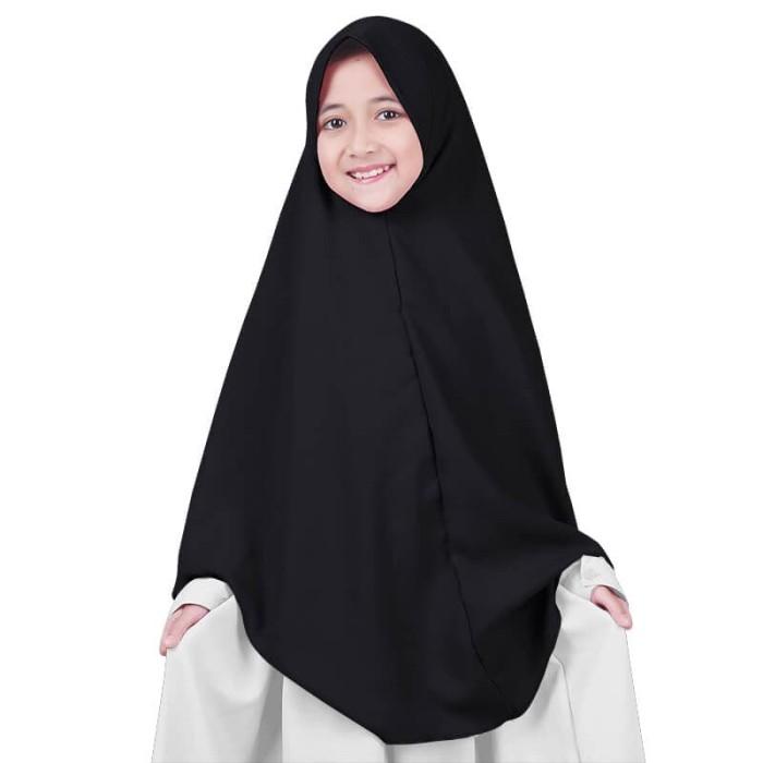 Foto Produk BAJUYULI - Kerudung Jilbab Anak Syar'i murah cantik - hitam GWSBK01 dari Bajuyuli