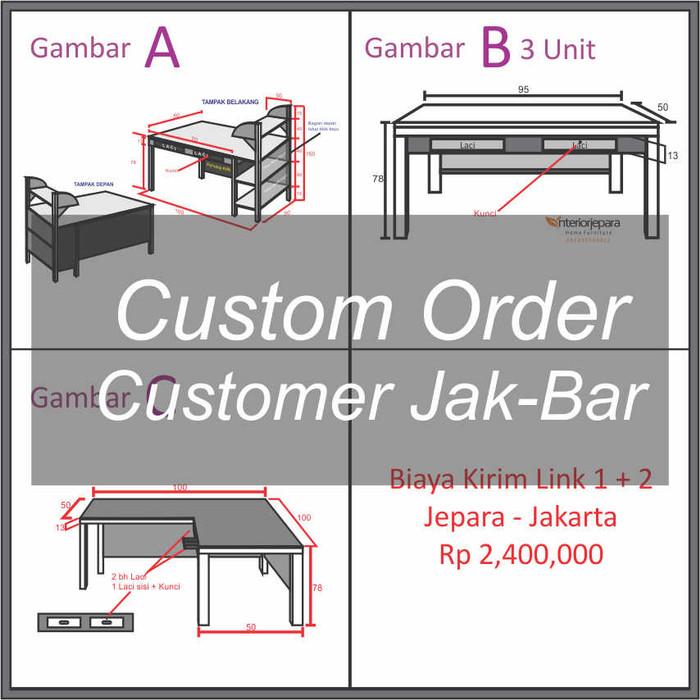 Jual Custom Order Mebel Kayu Jati Model Minimalis Kab Jepara Interior Jepara Tokopedia