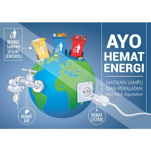 Jual Poster K3 Safety Ukuran A2 Sp310 Ayo Hemat Energi Kota