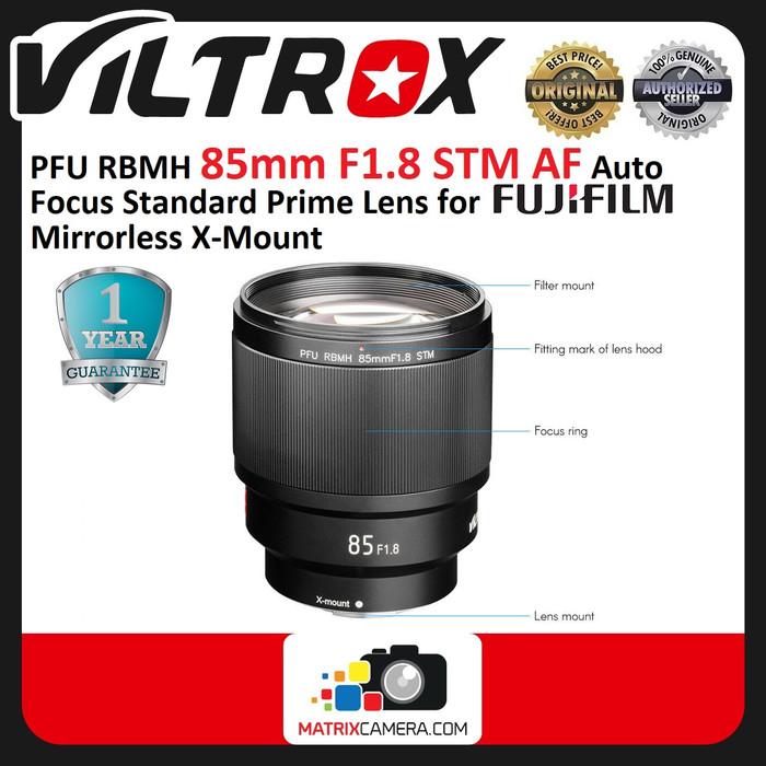 Foto Produk Viltrox Lensa 85mm F1.8 STM AF Lens for Fujifilm FX Mount X Mount dari MatrixCamera