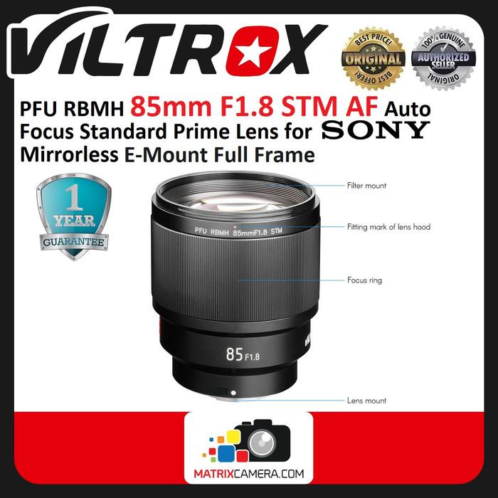 Foto Produk Viltrox Lensa 85mm F1.8 STM AF Auto Focus Lens for Sony E Mount dari MatrixCamera