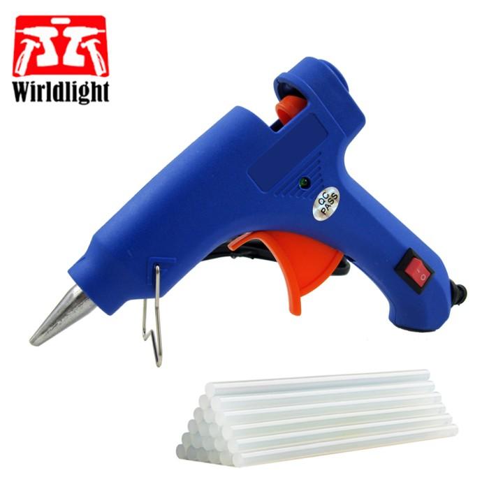 20W Hot Stick Heater Trigger EU Plug Electric Melt Glue Gun Repair Tool 100-240V
