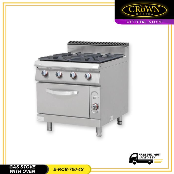harga Gas stove with oven 4 burner e-rqb-700-4s crown horeca Tokopedia.com