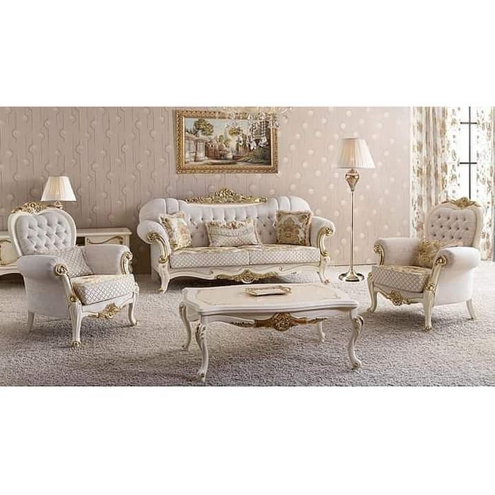Desain Ruang Tamu Super Mewah jual sofa ruang tamu mewah gaya eropa kab jepara jeparaartfurnindo tokopedia