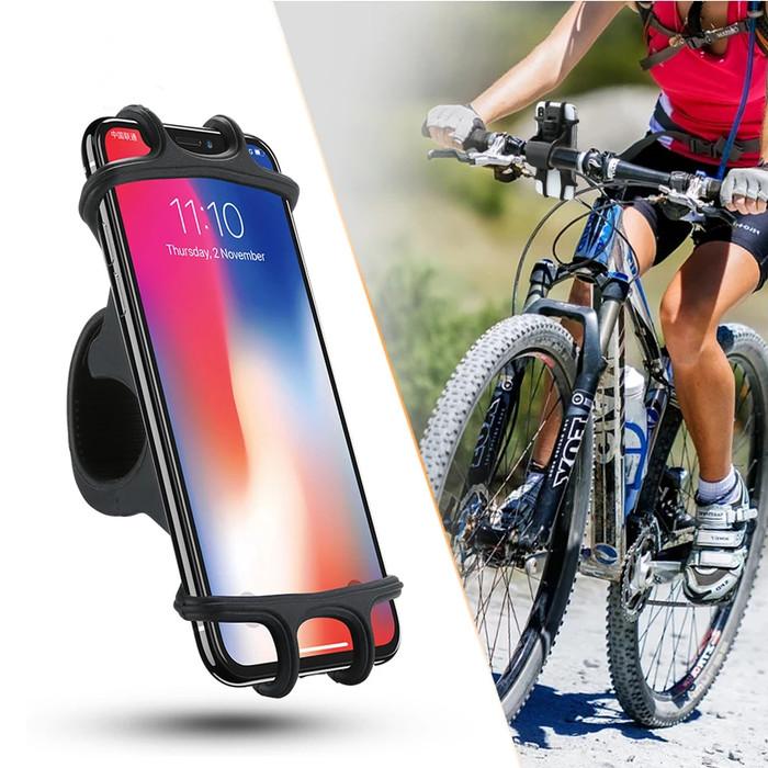 harga Phone holder hp motor sepeda stroller karet elastis universal 6.5 inch Tokopedia.com