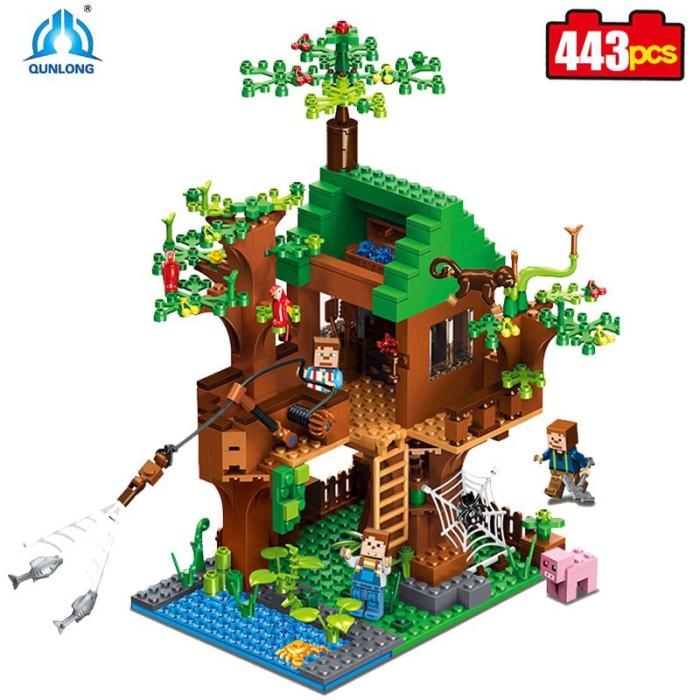 Jual 443pcs Forest House Building Blocks Compatible Lego Minecraft City Kab Pekalongan Wearsh Tokopedia