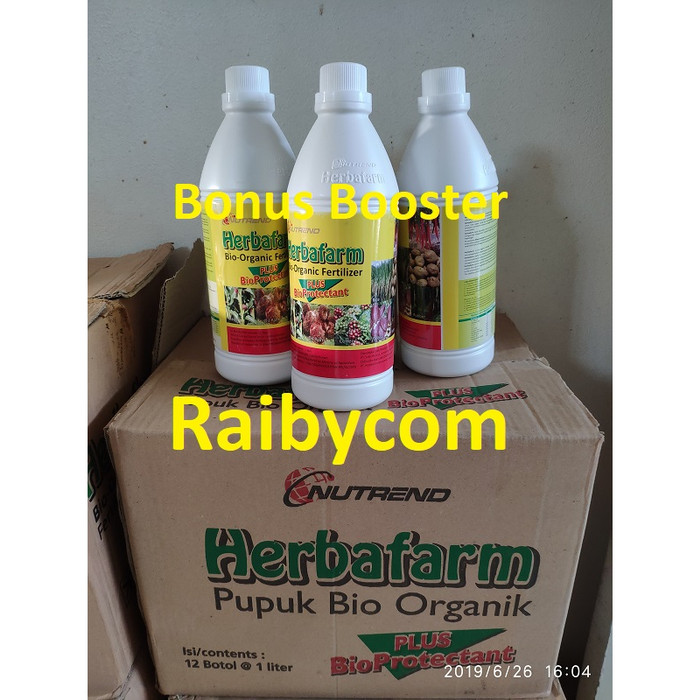 Foto Produk Herbafarm Pupuk Cair Sidomuncul Bio Organik Fertilizer Kualitas Ekspor dari Raibycom