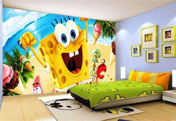 Jual Wallpaper 3d Custom Wallpaper Dinding Anak Spongebob Banner Jakarta Pusat Harmoniwallpaper Tokopedia
