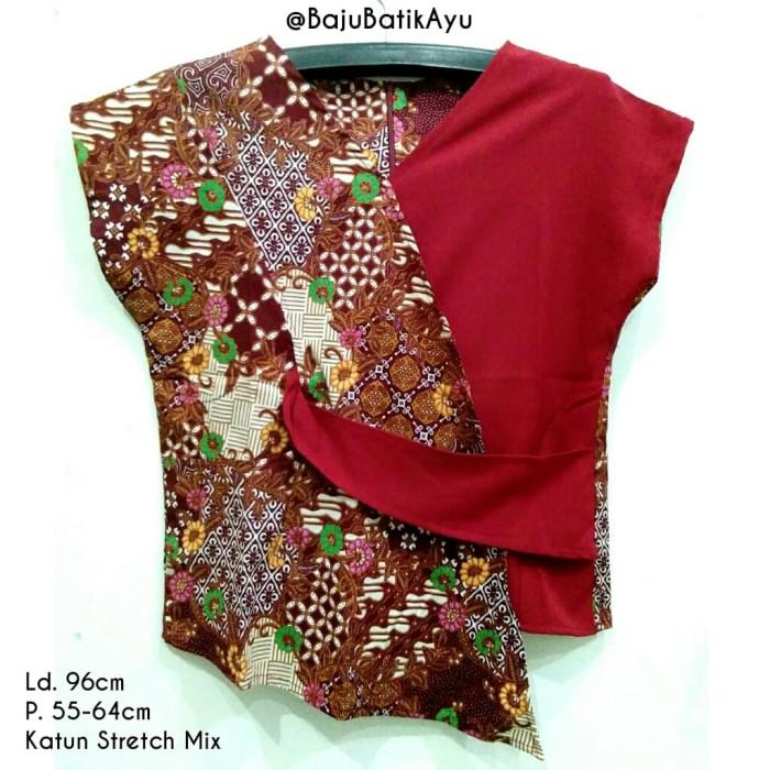 Jual Atasan Batik Modis Modern Gaul Baju Batik Kerja Kantoran Merah Kota Malang Tokoapaa Tokopedia