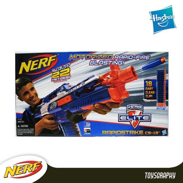 harga Nerf elite rapidstrike cs-18 / automatic Tokopedia.com