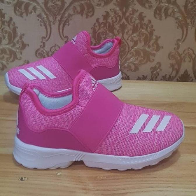 Jual Sepatu Adidas Slip On Anak - Pink Soft / Sepatu Impor