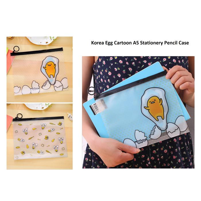 Foto Produk PF11 Korea Egg Cartoon A5 Stationery Pencil Case / Tempat Pensil - egg dua dari EnnWen Online Store