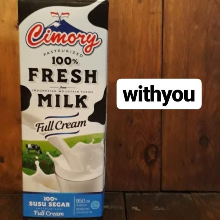Foto Produk CIMORY FRESH MILK 950ml 1KARTON @12PCS/   susu segar   FULL CREAM dari withyou