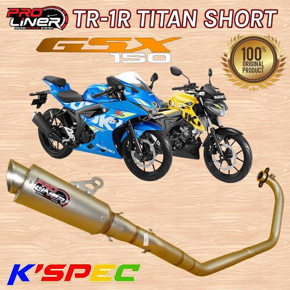 harga Knalpot proliner tr-1r titan short gsx r-150 & gsx s-150 original Tokopedia.com