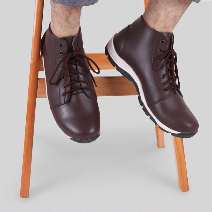 harga Sepatu casual pria s. van decka j-wr010t free jam tangan sport - cokelat 43 Tokopedia.com