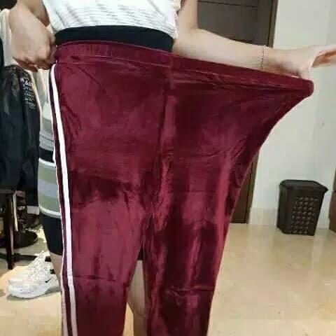 Jual Celana Legging Velvet Bludru List Fit To Jumbo 80kg Readystock Hitam Kab Bandung Barat Rafi Grosir Fashion Tokopedia