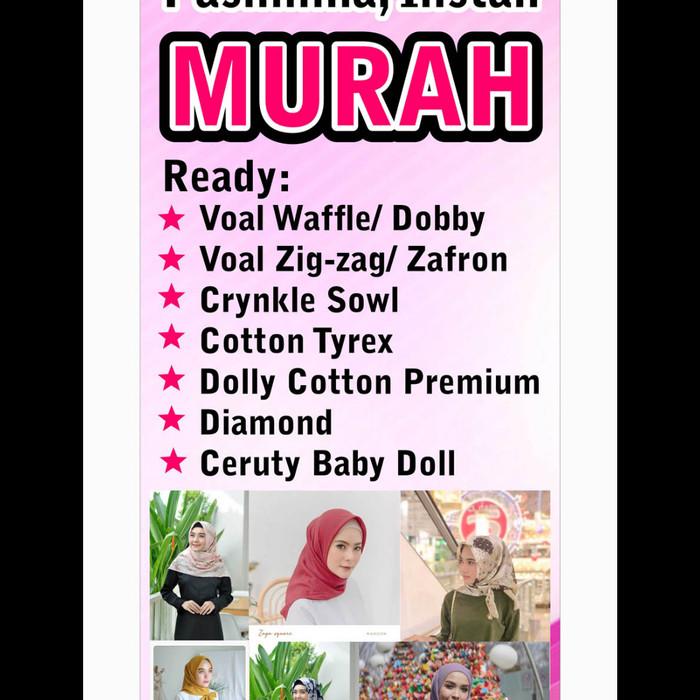 Contoh X Banner Hijab - desain spanduk keren