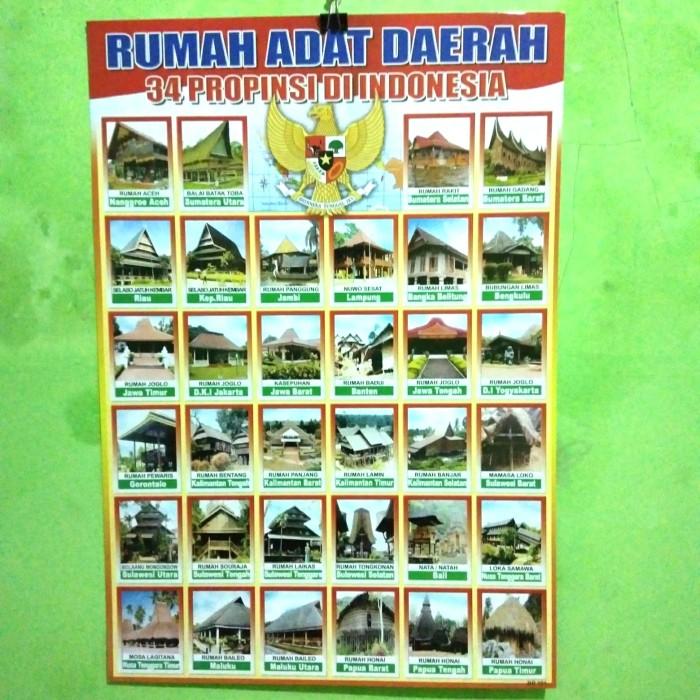 Jual Poster Rumah Adat Daerah 34 Provinsi Di Indonesia Kab Banyumas Renira Shop Tokopedia