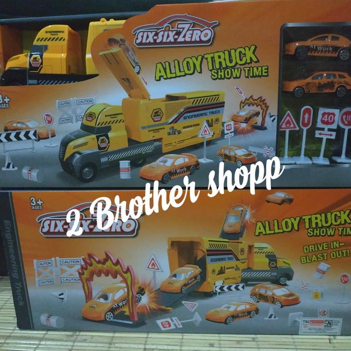 Foto Produk MAINAN TRUCK-MAINAN TRUK TRAILER-DIECAST TRUCK-MAINAN SET TRUCK- TOING dari 2 brother shopp