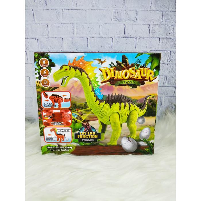 Jual Mainan Hewan Dinosaurus Bertelur Dan Proyektor Baterai Kota