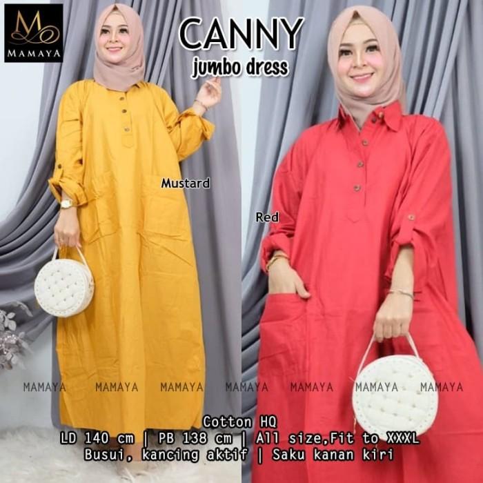 Foto Produk Mamaya Ld 140 Canny Jumbo Dress Gamis Big Size Besar Murah dari Heasop03