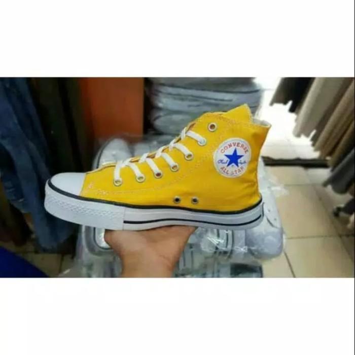Jual Sepatu All Star Converse Kuning Tinggi Murah Kota Tangerang