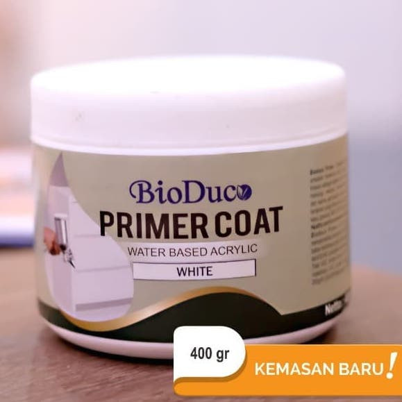 Foto Produk Cat primer Kayu Water Based BioColours Primer Coat White Minican dari Semesta_Satu