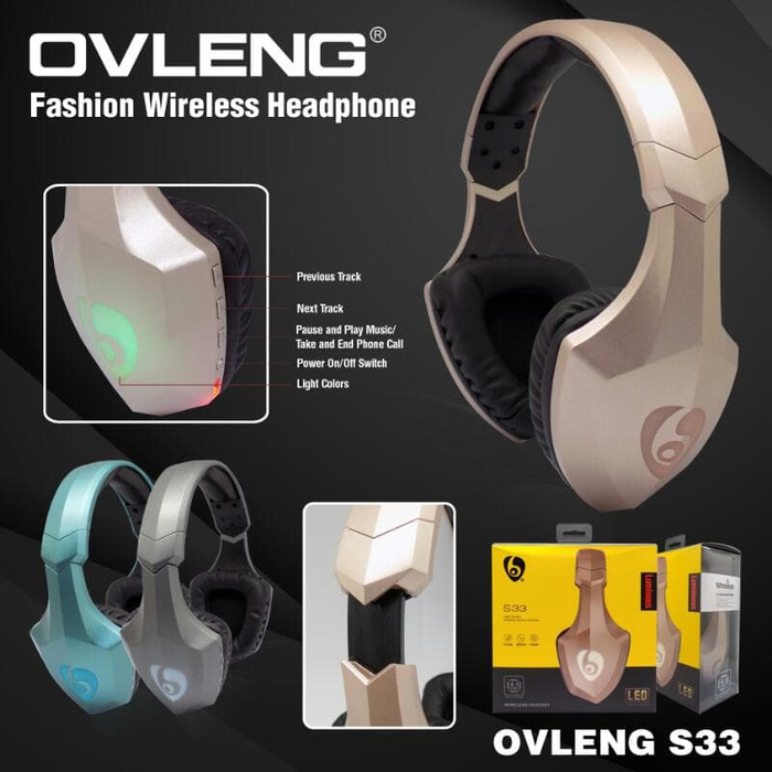 Headset gaming bluetooth ovleng s33 rgb - headphone ovleng s-33