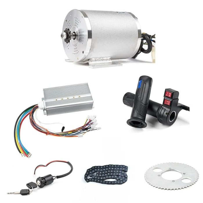 48V 1800W Electric Bike Scooter Brushless DC Motor Speed Controller Box Plug