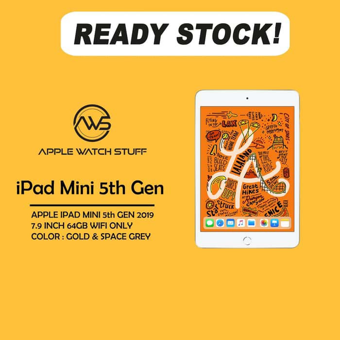 Foto Produk Apple iPad Mini 5 2019 7.9 Inch 64gb Wifi Only - Gold Only dari applewatchstuff