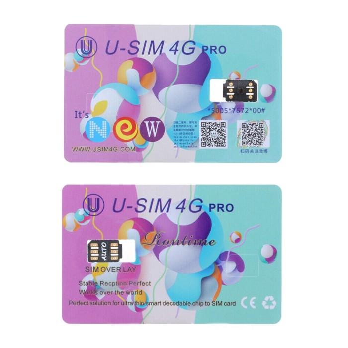 Jual U-sim Pro Unlock Turbo iccid Nano SIM Card untuk iPhone x 8 7 6S 6 -  Jakarta Pusat - RiverView Store | Tokopedia
