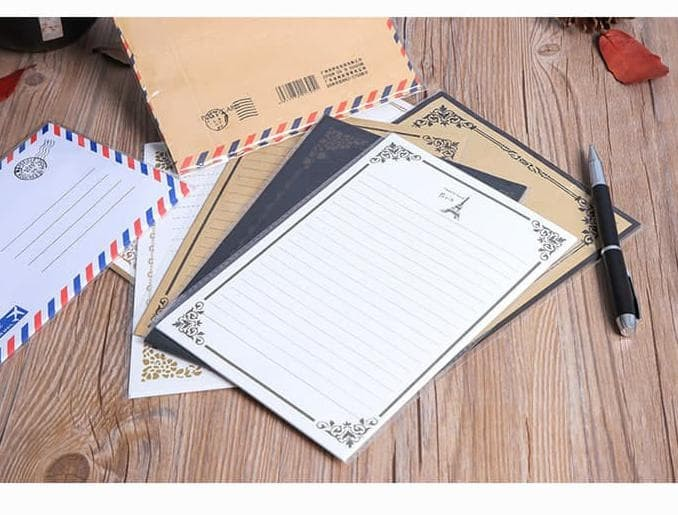 Jual Kertas Surat Amplop Kertas Surat Ucapan Kertas Surat Model Vintage Dki Jakarta Da Niza Tokopedia