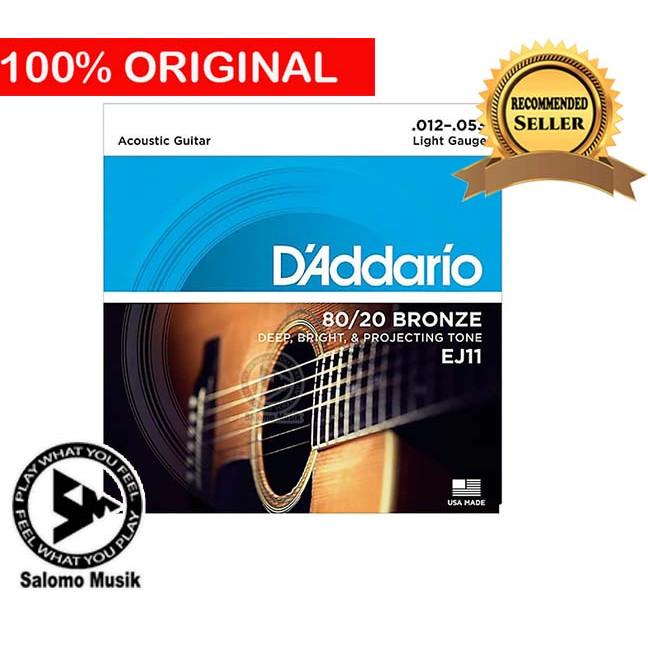 Foto Produk Senar Gitar Akustik Acoustic Daddario D addario D'addario EJ-11 dari Salomo Musik