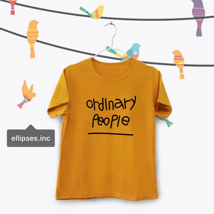Foto Produk Tumblr Tee / T-Shirt / Kaos Wanita Lengan Pendek Ordinary Mustard dari Ellipses.inc