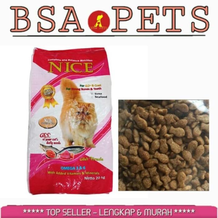 Jual Makanan Kucing Nice Seafood Bentuk Ikan Repack 1kg Kota