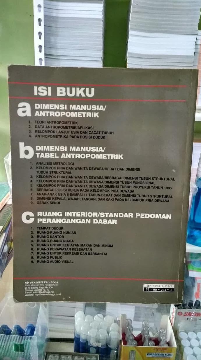 Jual HOT SALE ORIGINAL DIMENSI MANUSIA & RUANG INTERIOR ERLANGGA Jakarta Barat Rosdiana Rawung Smk Shop