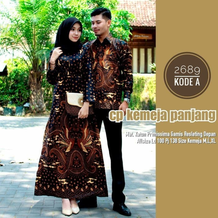 Jual Couple Baju Gamis Batik Cantik Pakaian Batik Sarimbit Terbaru Kota Pekalongan Fikri Batik Tokopedia