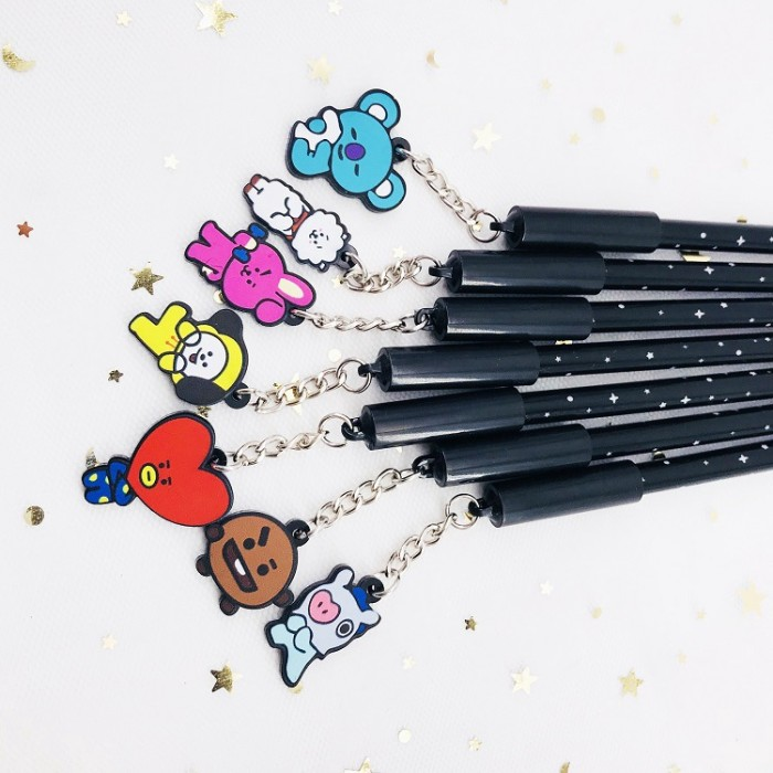 F7AB 10 Colors Gel Ink Pen Writing Tool Students Cute Ball-Point