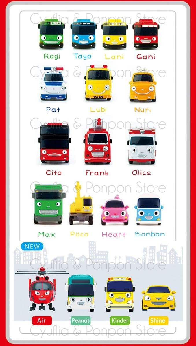 Jual HOT SALE Tayo The Little Bus Mini Toy 4 Set Tayo Rogi Gani Lani Jakarta Selatan Fitodito Shop