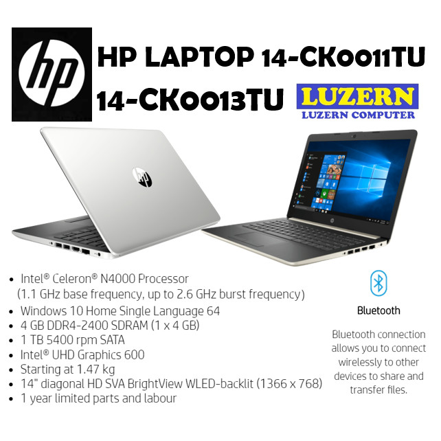 Jual Laptop Murah Hp 14 Ck0011tu Ck0013tu Intel N4000 4gb 1tb 14 W10 Jakarta Pusat Luzern Computer Tokopedia