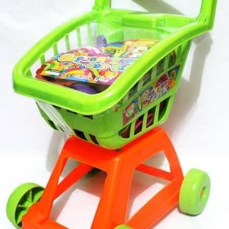 Foto Produk mainan trolly trolley mainan supermaket keranjang masakan dorong dari Howell toys