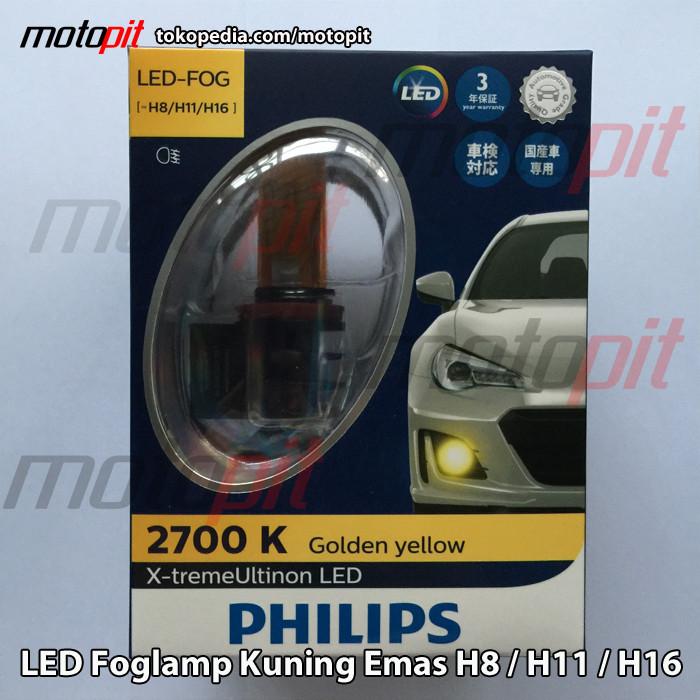 Jual Philips Xtreme Ultinon Led H8 H11 H16 2700k Kuning Emas Fog Lamp Jakarta Barat Motopit Tokopedia